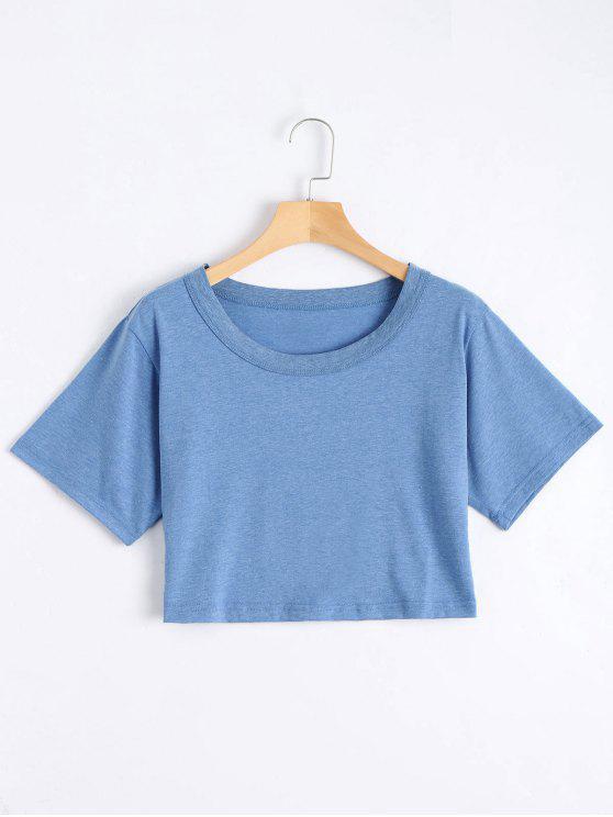 Top en Coton - Bleu Taille Unique