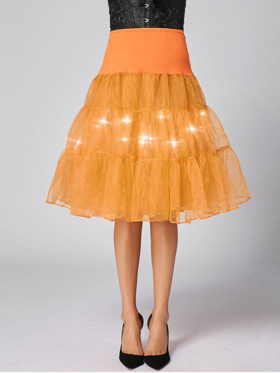 Flounce Light hasta la falda de Cosplay - Naranja M