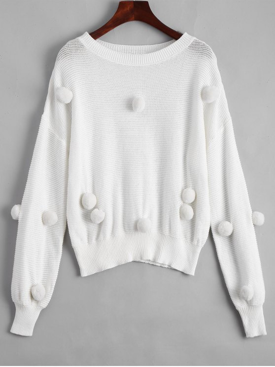 Bolas sueltas Patched Sweater - Blanco L