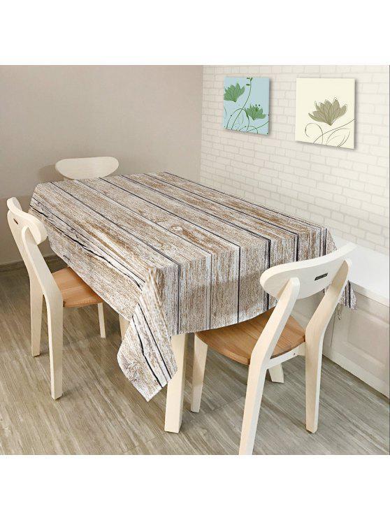 الأرضيات الخشبية طباعة النسيج الجدول القماش - رمادي أبيض W54 INCH * L54 INCH