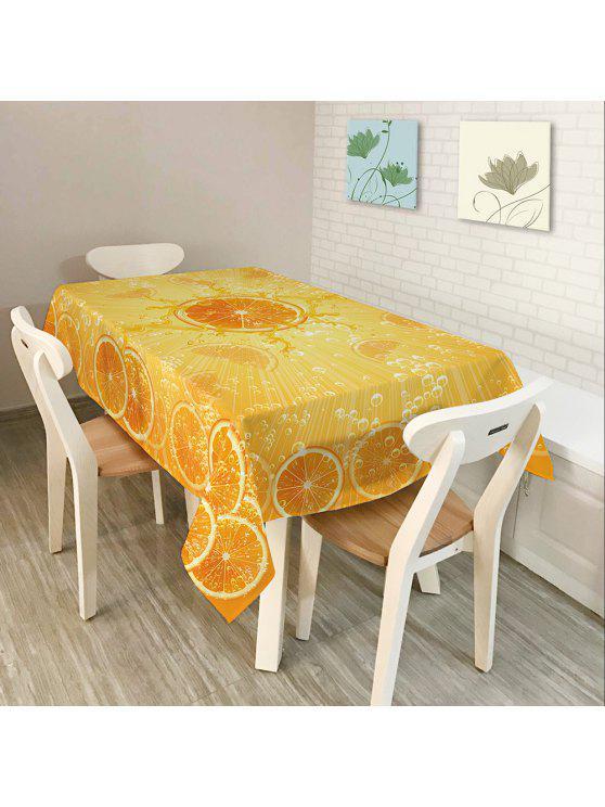 برتقال طباعة ديكور المنزل نسيج الجدول القماش - البرتقالي W60 بوصة * L84 بوصة