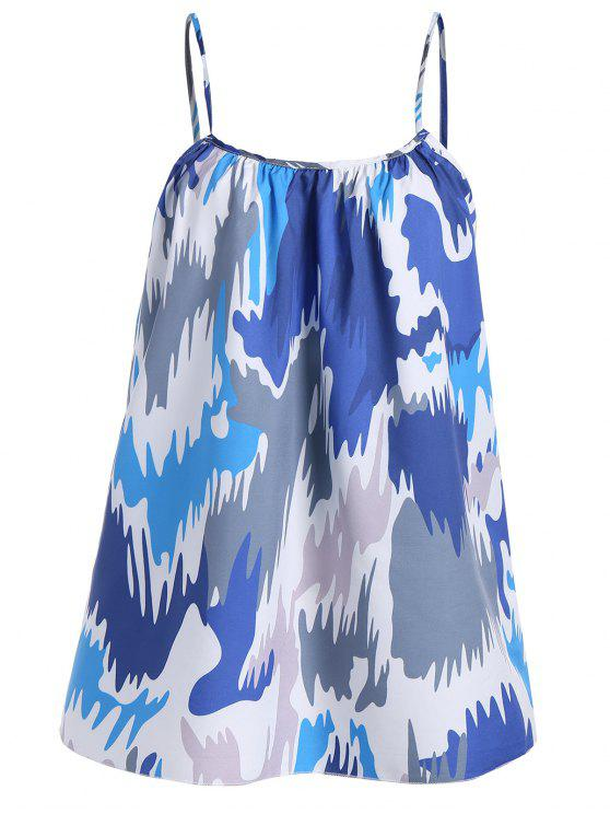 5dfc2231acf 20% OFF  2019 Color Block Plus Size Cami Tank Top In BLUE