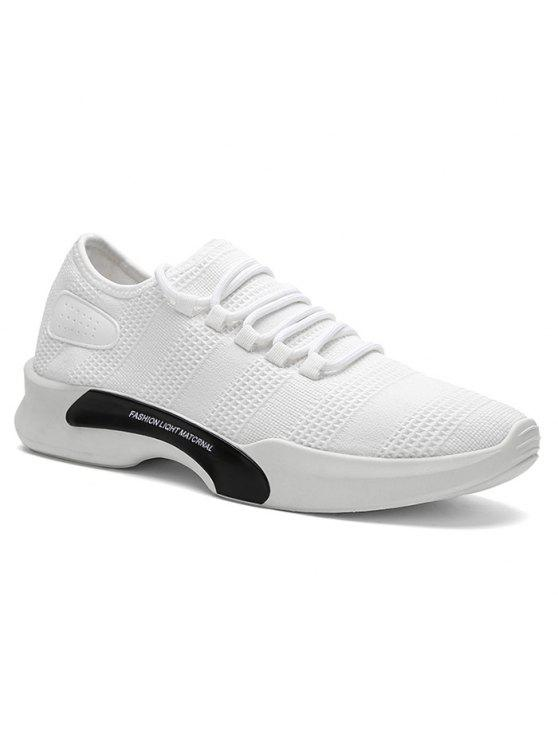 Breathable Mesh Tie Up Athletic Shoes - White 44 outlet store online clearance comfortable largest supplier cheap price new styles sale online big discount cheap online B51yvYn