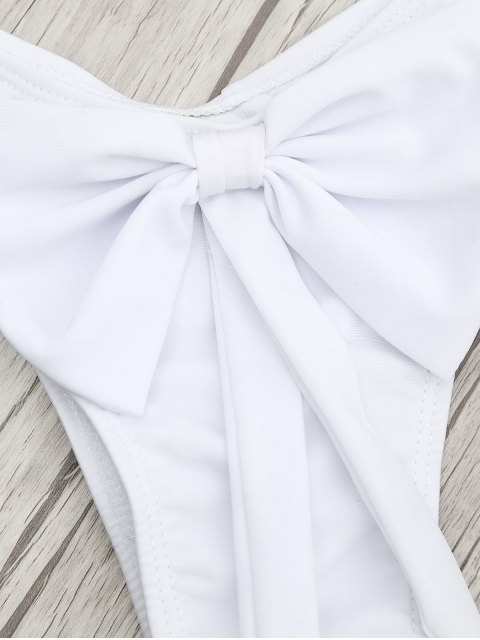 Ensemble de bikini à doigt brossé rembourré - Blanc S Mobile