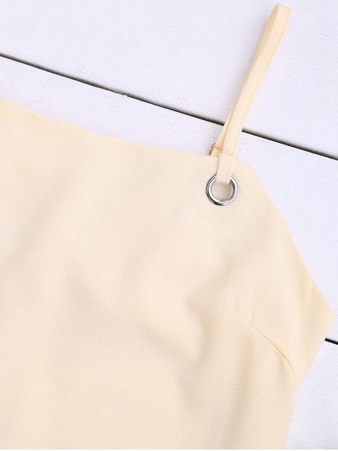 Robe miniature découpée à l'arrière - Jaunâtre S Mobile