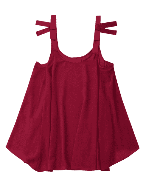 sale Billowy Chiffon Beach Top Cover Up - BURGUNDY ONE SIZE Mobile
