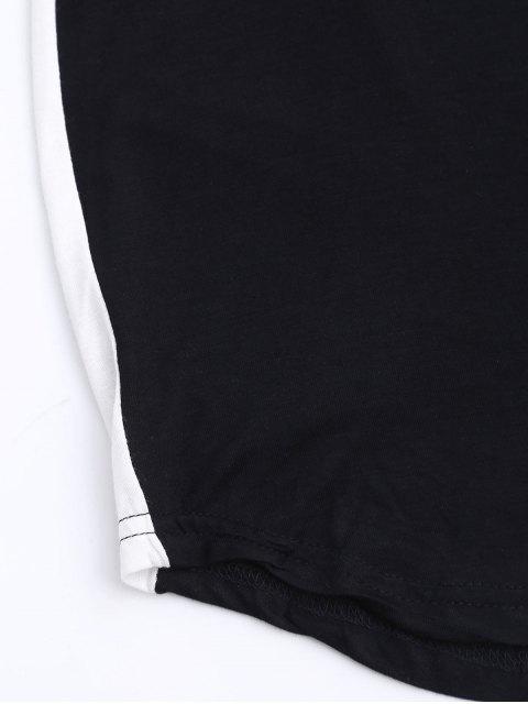 ladies Sports Two Tone Bodycon Dress - BLACK XL Mobile