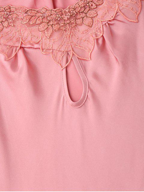 Robe de sommeil en satin à manches courtes - ROSE PÂLE M Mobile