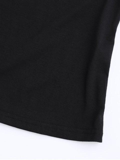 Cotton Letter Rose Top - Noir 2XL Mobile