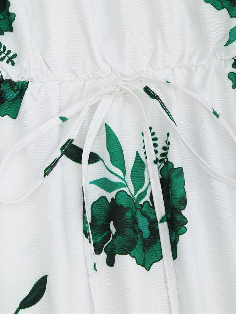 Robe à manches longues imprimée fleur - Vert XL Mobile