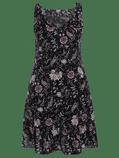 Robe à manches courtes à manches longues - Noir 4XL Mobile