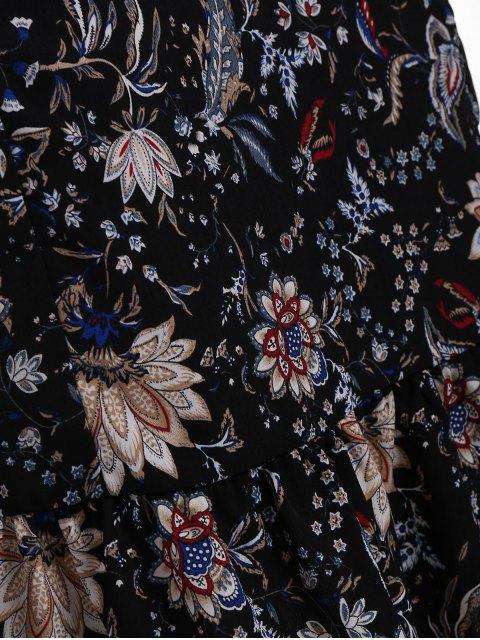 Robe à manches courtes à manches longues - Noir 5XL Mobile