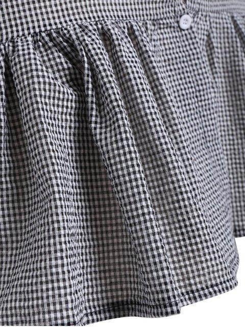 Robe à manches longues épurées - plaid 4XL Mobile