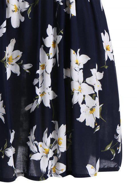 Robe sans manches en lin sans manche - Bleu Foncé 4XL Mobile