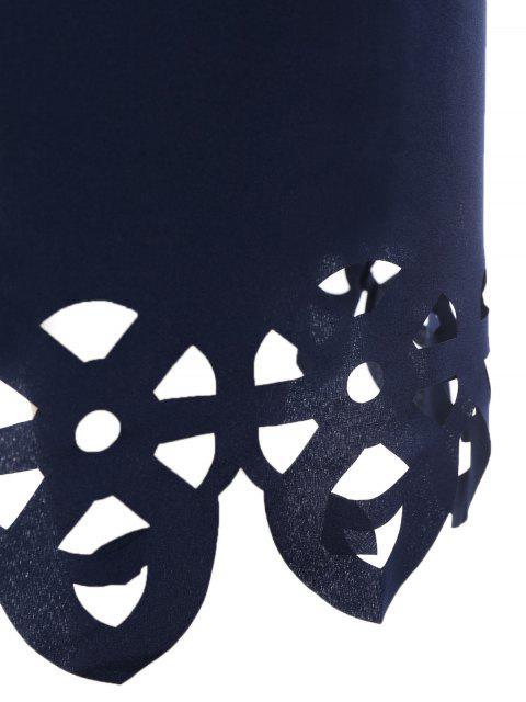 Robe de trapèze coupe au laser - Bleu Violet XL Mobile