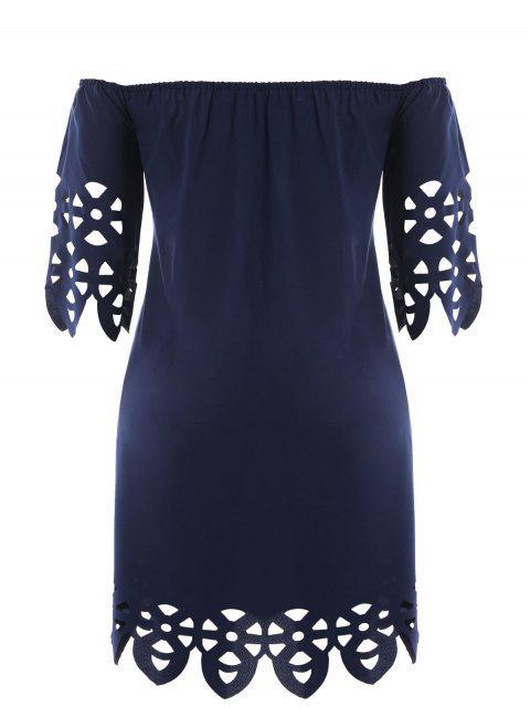Robe de trapèze coupe au laser - Bleu Violet 2XL Mobile