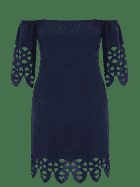 Robe de trapèze coupe au laser - Bleu Violet 4XL Mobile