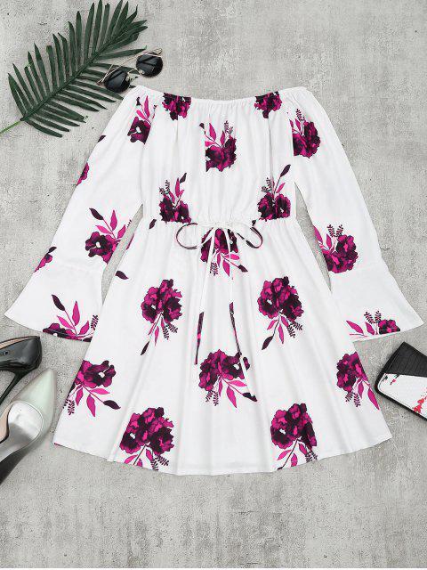 Vestido de manga larga con estampado floral - Ciruela S Mobile