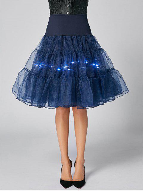 unique Flounce Light Up Cosplay Skirt - CERULEAN XL Mobile