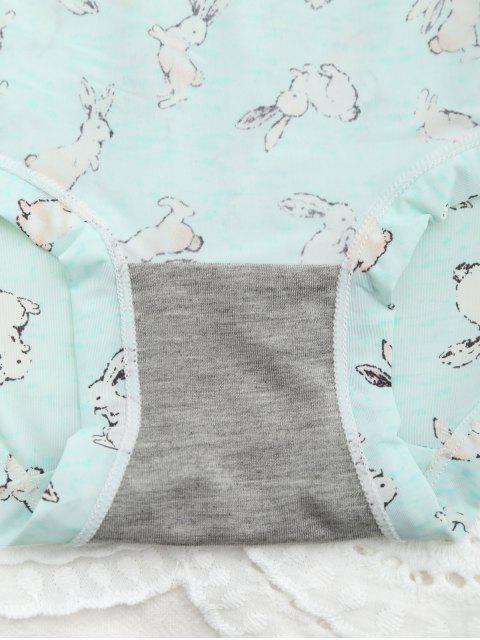 Cute Cartoon Rabbit Panty - Vert clair TAILLE MOYENNE Mobile