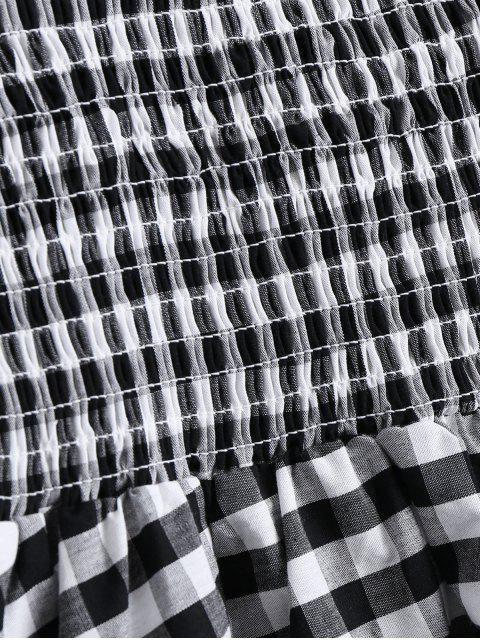 Robe à manches courtes à manches - plaid L Mobile