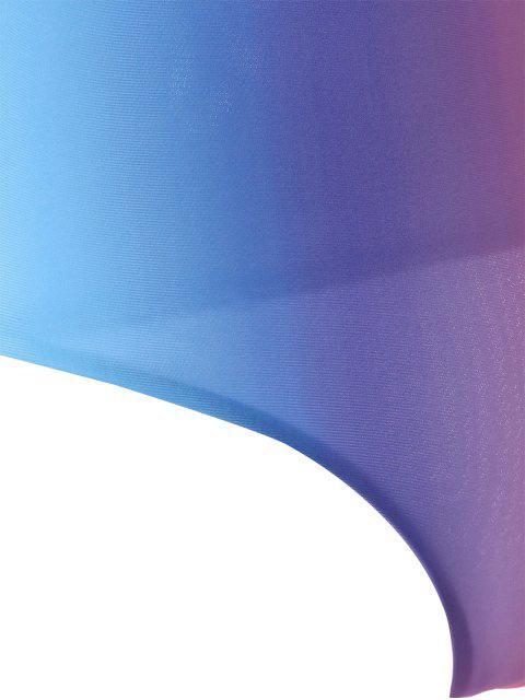Maillot de Bain Une Pièce Ombre Polychrome Dos Nu - Multicolore 2XL Mobile