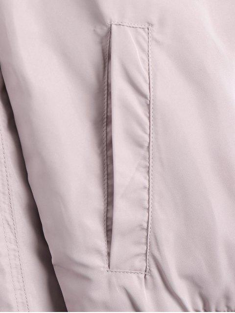 new Zipper Plain Bomber Jacket - PINK S Mobile