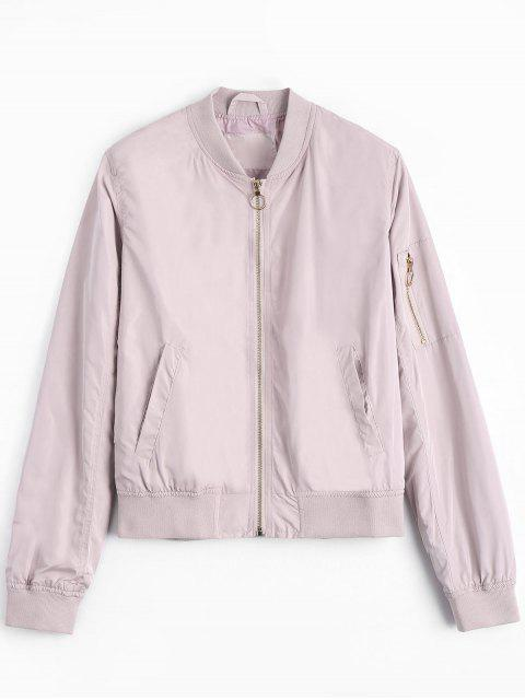 Veste Bombardier Simple Zippée - ROSE PÂLE M Mobile
