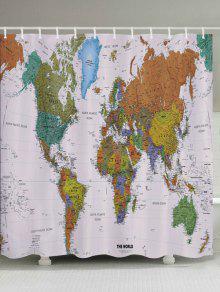 خريطة العالم نمط ماء الحمام دش الستار - W71 بوصة * L79 بوصة