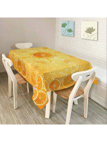 برتقال طباعة ديكور المنزل نسيج الجدول القماش - البرتقالي W54 بوصة * L72 بوصة