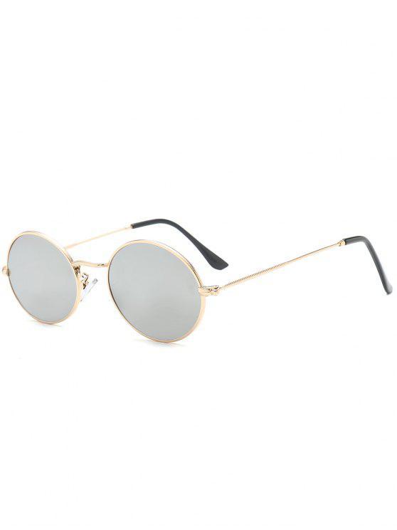 Gafas de sol de protección UV oval - Plata