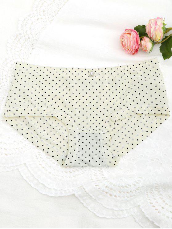 Polka Dot Hipster Underwear Panty - Luz amarilla Única Talla