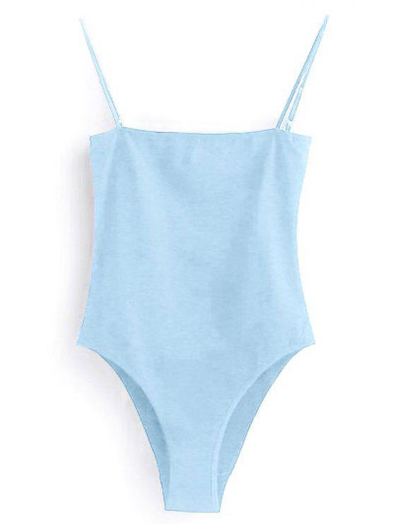 women's Camisole Bodysuit - LIGHT BLUE S