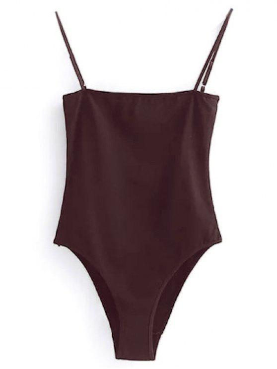 trendy Camisole Bodysuit - WINE RED S