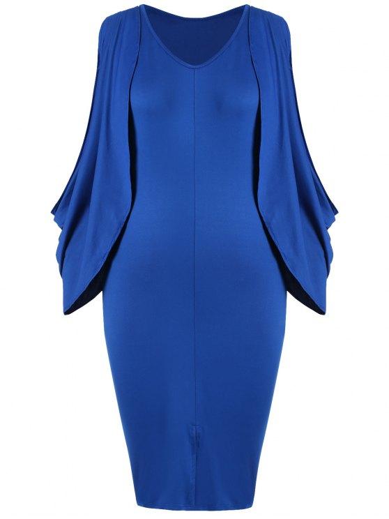 بالاضافة الى حجم انقسام الأكمام الجبهة فوركال بوديكون اللباس - أزرق 2XL