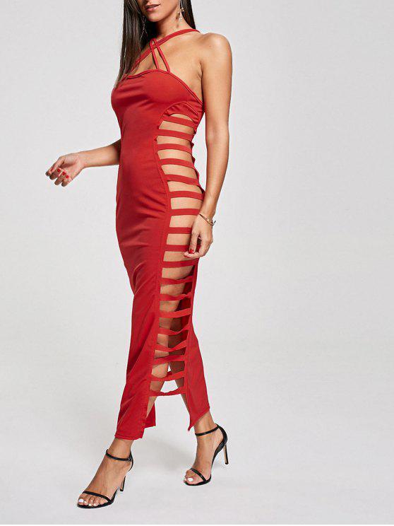 f540f3da4 33% OFF] 2019 Sexy Cut Out Criss Cross Club Dress In RED | ZAFUL