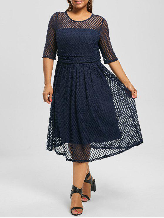 Lace A Line Plus Size Homecoming Dress