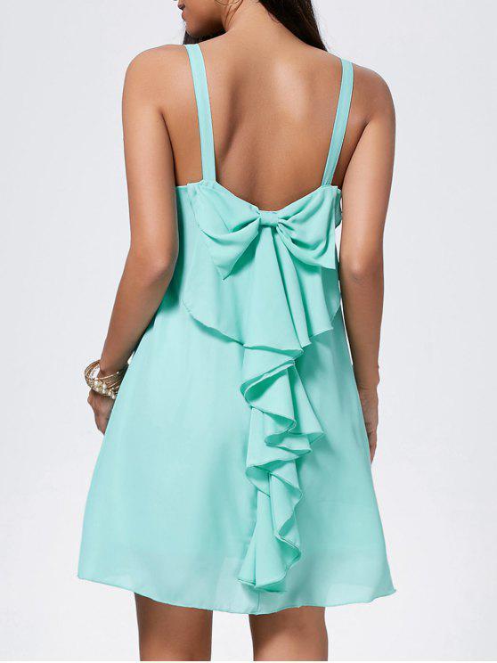 فستان بونوت شيفون مصغر - اخضر فاتح L