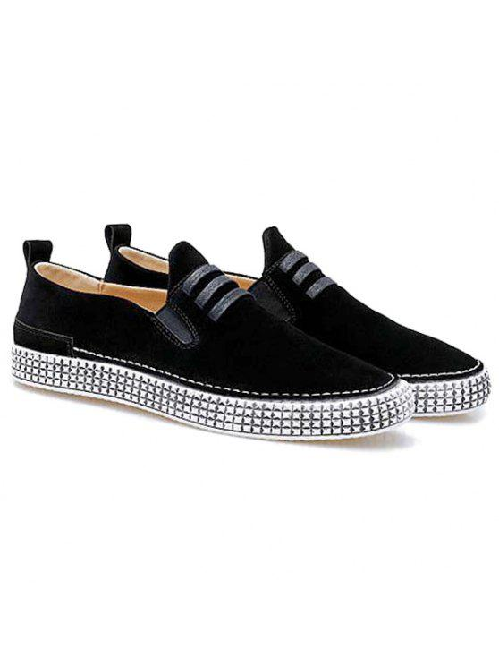 مطاطا باند الأربطة أحذية عادية - أسود 42
