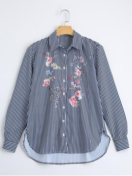 الأزهار، إمبروديرد، شق، المشارب، قميص - شريط M
