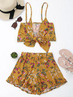 Floral Cami Top With Shorts Set - Floral Xl