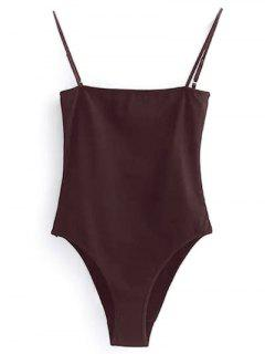 Camisole Bodysuit - Wine Red S