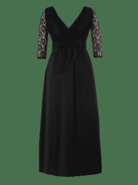Robe Taille Maxi Plus - Noir 4XL Mobile