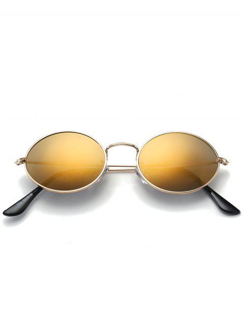 trendy Oval UV Protection Sunglasses - LUXURY GOLD COLOR  Mobile