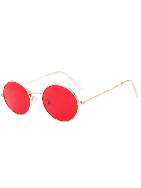 outfit Oval UV Protection Sunglasses - RED  Mobile