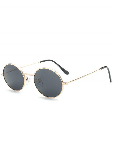 Gafas de Sol Anti-UV de Marco de Metal Oval - Negro  Mobile