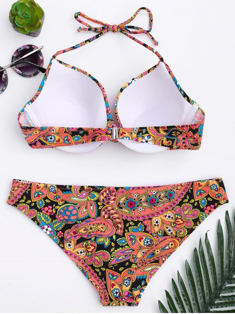 buy Fuller Bust Underwire Moulded Bikini Set - FLORAL L Mobile