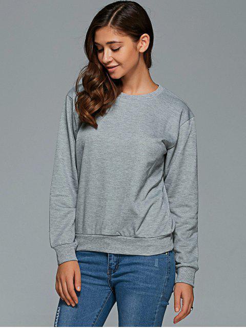 chic Letter Pattern Round Collar Sweatshirt -   Mobile