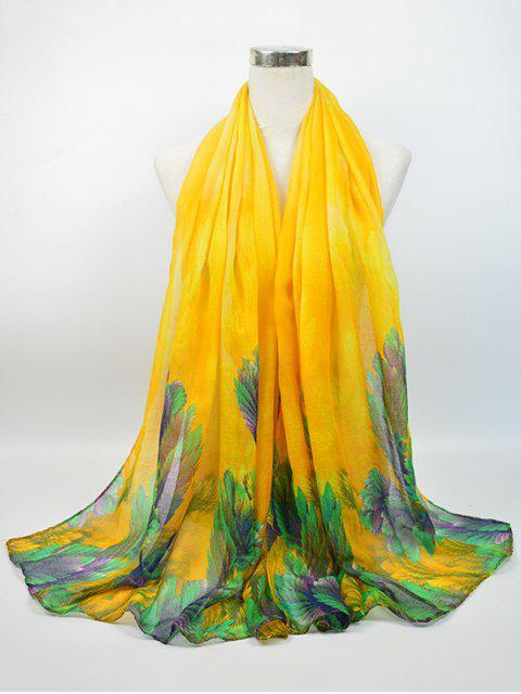 Écharpe évasée à fleurs - Jaune  Mobile