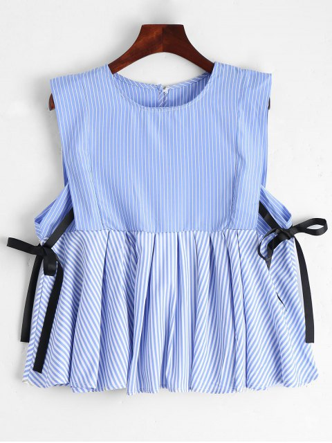 Stripes Loose Side Tied Tank Top - Raya S Mobile